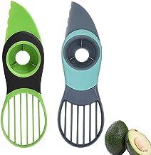 RYB 2 Pack Avocado Slicer, Good Grips 3-in-1 Avocado Cutter, Avocado Peeler, Tool with Comfort-Grip Handle Works, Peeler K...