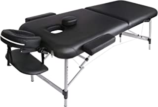 Naipo Table de Massage Cosmétique Lit de Massage Kiné Pliante Professionnel Portable Ergonomique table Canapé Pieds en Alu...