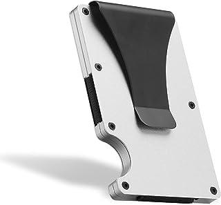 Fancigo Minimalist Credit Card Holder Wallet with NFC RFID Blocking Aluminum Men's Money Clip Wallet- Sliever