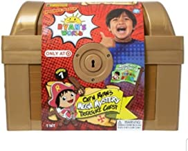 NS Boys Kids Ryan Ryans Ryan's World Exclusive (1) Mega Treasure Chest, (1) Ryan's Sticki Mix-UPz and (Bonus: Dinosaur Bubble Blaster with Lights/Sounds)- Holiday Birthday Gift Set