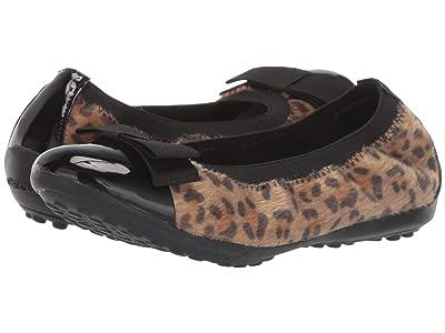 Geox Kids Jr Piuma 74 (Little Kid/Big Kid) (Light Brown/Black) Girls Shoes