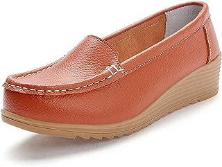 Jiyaru Womens Low-Heeled Nursing Shoes Breathable Slip-on Nurse Work Sneakers