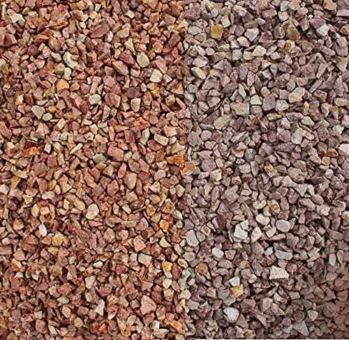 Granitsplitt rot/Herbstlaub 20 Kg Granit Splitt Zierkies Gartenkies Teichkies Waschkies 16-32 mm