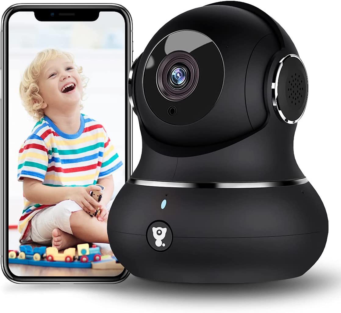 [2021 New] Little elf Security Camera for Home 1080P Indoor WiFi Camera for Baby/Pet/Elder, Dog Camera with Phone App Motion Detection 2-Way Audio Night Vision