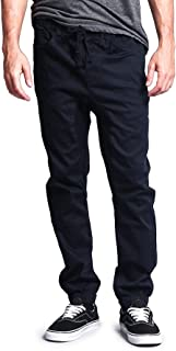 Men's Drop Crotch Joggers Twill Pants