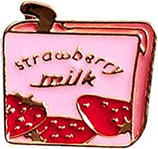Strawberry Milk Box Drink Enamel Pin