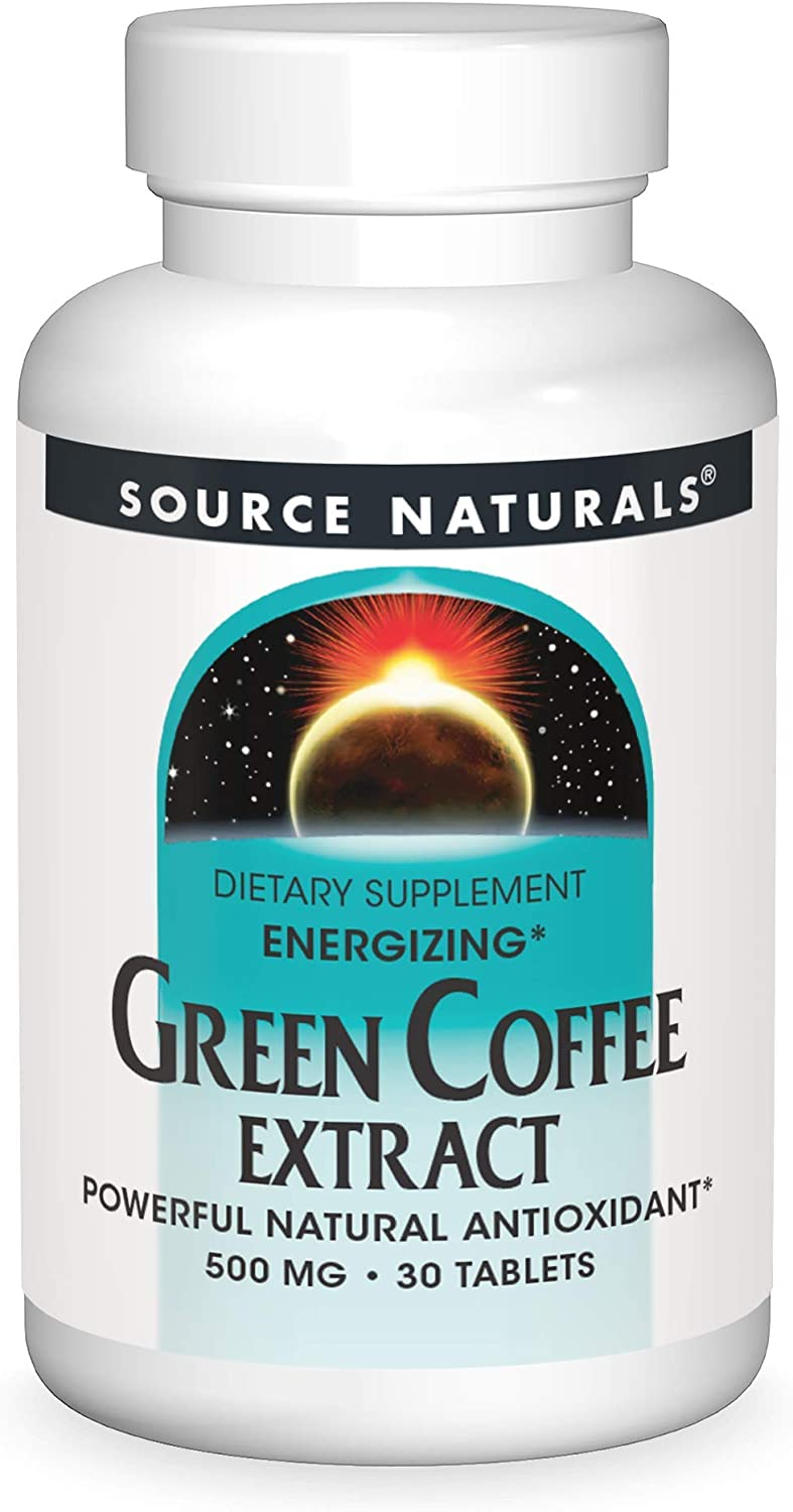 NEW before selling ☆ Source Naturals Green 2021 spring and summer new Coffee 30 500Mg Tablets Energize