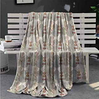 Blanket for Sofa Couch Bed Music,String Quartet Violins Fur Blanket 50