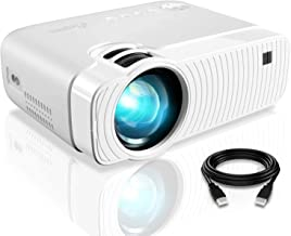 """ELEPHAS Projector, GC333 Portable Projector with 4500 Lumens and Full HD 1080p, 180"""" Display and 50000 Hours Lamp Life LED..."""