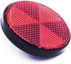 Meedee New Bicycle Bike Round Reflector Safety Night Cycling Reflective Bike Accessories (red)