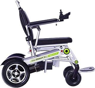 Sillas de ruedas eléctricas para adultos Sillas de ruedas eléctricas, Silla de ruedas eléctrica de aleación de aluminio de control remoto sillón de ruedas mayor movilidad reducida vibración de cuatro