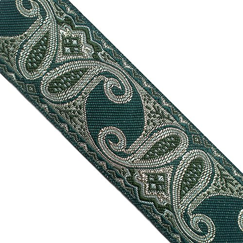 5 Yards 1-1/2' Wide 39mm Metallic Jacquard Ribbon JL262
