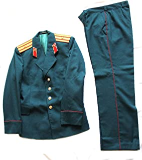 Soviet USSR Original Military Topography Major Parade Uniform 1990-RARE Turquoise