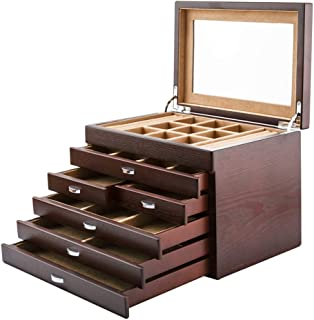 Toiletry Bags Jewelry Box Jewelry Display Box Solid Wood Dressing Table Jewelry Storage Box Large-Capacity Jewelry Box Multi-Function Home Jewelry Storage Display Box