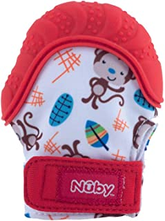 Nuby Teething Mitt, Red