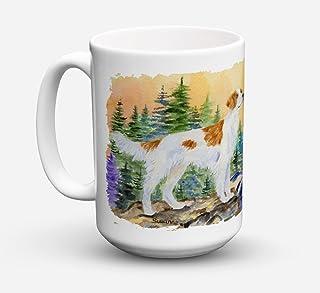 Caroline's Treasures SS8146CM15 Setter Dishwasher Safe Microwavable Ceramic Coffee Mug, 15 oz, Multicolor