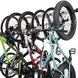 Fahrrad Wandhalterung für 3 oder 6 Fahrräder - Verstellbare Fahrradhalterung für Garage oder Wohnung - Vertikale Wand Fahrradaufhängung - Sichere Haken & Wandmontage - für Rennräder, Mountainbikes