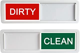 Nano Shield Dishwasher Magnet Clean Dirty Sign, 2019 New Design Decorative Dishwasheer Indicator Slidee Reminder with Sticky Tab Adhesion, Slide Signs Cool Kitchen Gadgets - White