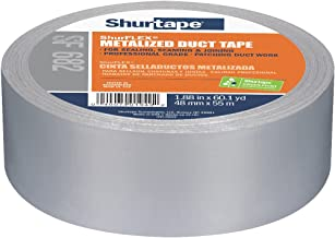 Shurtape SF 682 ShurFLEX niet-bedrukte gemetalliseerde doek duct tape, 72mm x 55m, Zilver, 1 rol (138664) 48 mm ZILVER