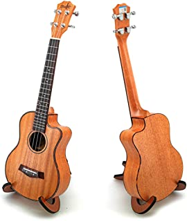 Ukelele Mahogany Ukulele with Wooden Scaffold, Missing Angle 4 Strings Elegant Professional Instrument Ukele Uke Hawaii Gu...