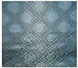 Russo Tessuti Tessuto Damascato Matlasse' Laminato Oro Medaglione Mozart Classico 260x280 cm-Blu