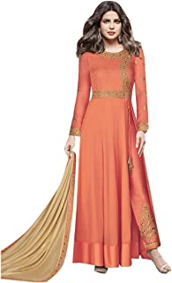 Long Lenght Brick red Priyanka Chopra Designer Silk Pants STyle Salwar kameez Indian festival Muslim Eid Suit 19