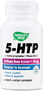 Natures Way Amino 5-HTP, 50 Milligrams, 60 Tablets. Pack of 1 Bottle