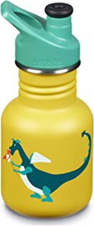 Klean Kanteen 12oz Kid Kanteen Stainless Steel Sport Bottle, Single Wall and Leak Resistant Sport Cap 3.0 2018