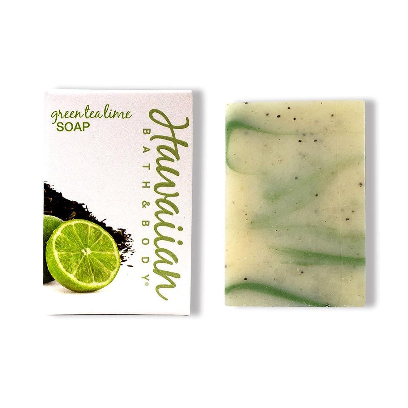 密度震える手配するハワイアンバス&ボディ グリーンティ&ライムソープ ( Green Tea & Lime Soap )