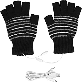 手袋 ヒーター手袋 あったか手袋 USB加熱式 ハンドウォーマー 約45℃ 暖房器具 両用式 厚手 冷え性対策 パソコン/スマホ/室外作業などに対策