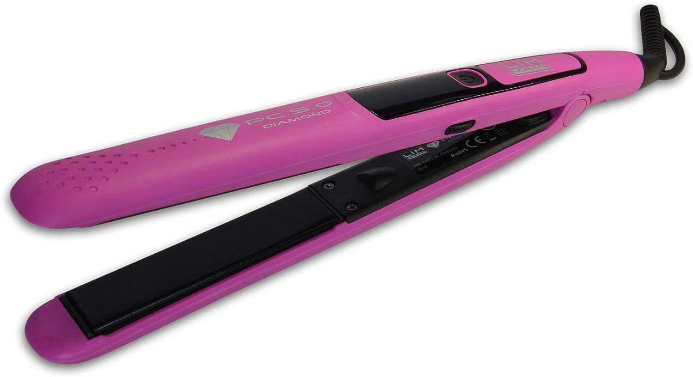Plancha de cabello LIM HAIR PC 5.0 DIAMOND. Placas basculantes y oscilantes DIAMOND. Temperatura regulable hasta 230 ºC. Bolsa térmica (FUCSIA, Plancha PC 5.0)