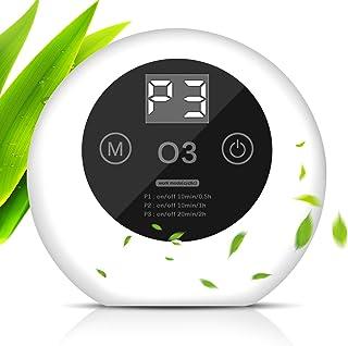 ACADGQ Purificador de Aire Portátil,Ultrasilencioso Generador de Ozono,Ionizadores de Aire con LED Display,Antibacteriano ...