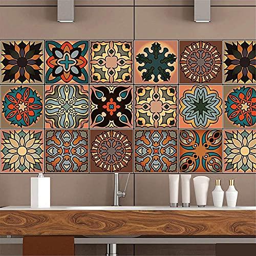 Acmxk 20 * 100cm Azulejos Adhesivos para Sala de Estar Dormitorio Cocina Baño, DIY Papel Pintado, Impermeable Protector contra Salpicaduras