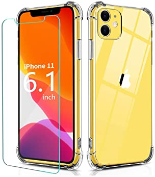 BELONGME Compatible with iPhone 11 Case 2019, Crystal Clear Case with 4 Corners Shockproof Protection Soft Scratch-Re...