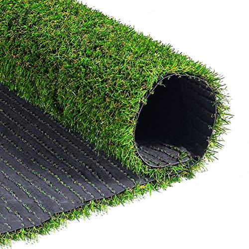 Synthetische Kunstgras Hoge Dichtheid Nep Gras Met Drainage Gaten & Rubber Achterkant Huisdier Turf Voor Patio Balkon Gras Tapijt 200x300cm(79x118inch) Groen