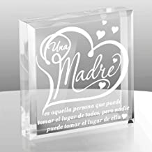 Kate Posh - A mother is she who can take the place of all others but whose place no one else can take (SPANISH - Una Madre) - Mother's Day Gifts Spanish - Engraved Keepsake and Paperweight