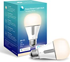 Kasa Smart Bulb by TP-Link, WiFi Smart Switch, E27/B22, 10W, No Hub Required, Works with Amazon Alexa (Echo and Echo Dot) ...