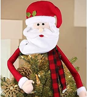 IARTTOP Santa Claus Christmas Tree Topper, Shopping Mall Christmas Supplies Christmas Tree Decoration Pendant,Christmas Party Decoration