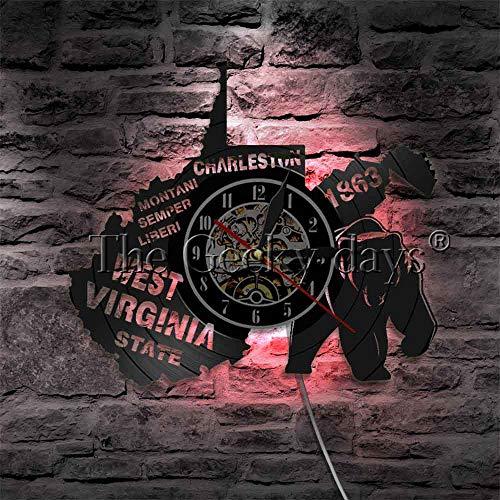 CVG 1 Stück US State Wandkunst Beleuchtung Decor Virginia State LED Symbole Wandleuchte Charleston Exklusive Hängelampe Mann Cave Bar Sig
