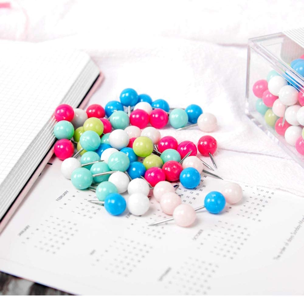 Clips 150pcs Unique Max 49% OFF Mixed Candy Pushpin Color Thumbtack Home Fees free for