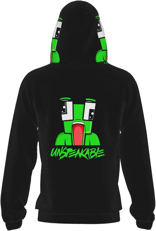 HODBAH0 Unspeakable Kids Graphic Pullover Hoodies Children Casual Hooded Pocket Sweatshirt