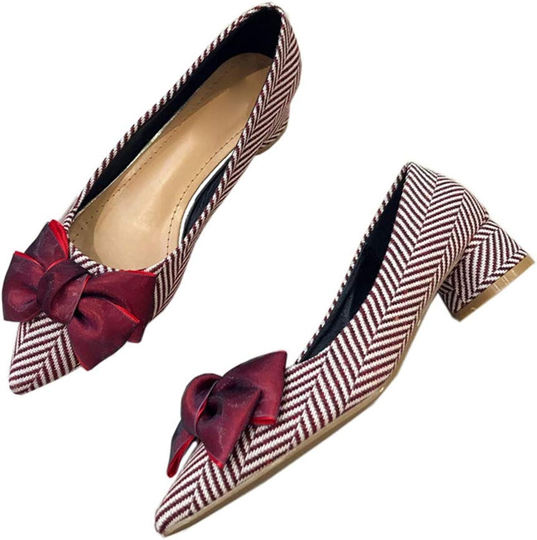 Women's Classic Pumps shoes Ladies Comfy Dress Soft Slip-On Bow Ballet Flats