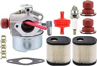 Leopop 40271 640303 640350 Carburetor for Tecumseh LV195EA LEV120 LEV100 LEV105 LV195XA Toro 20016 20017 20018 6.75HP Recycler Lawn Mower with 36905 Air Filter Fuel Filter Primer Bulb