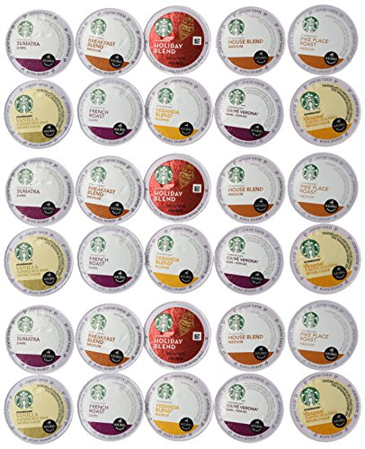 30 Count - Variety Pack of Starbucks Coffee K-Cups for...