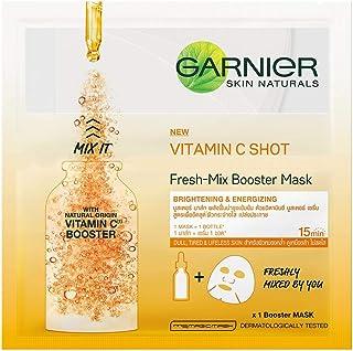 Garnier Skin Naturals, Fresh Mix Vitamin C, Face Serum Sheet Mask (Orange), 33 g