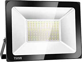 SOLLA 150W LED Flood Light Outdoor Security Light, 800W Equiv, 6000K Daylight White, 12000LM, Waterproof IP66, Outdoor Wal...