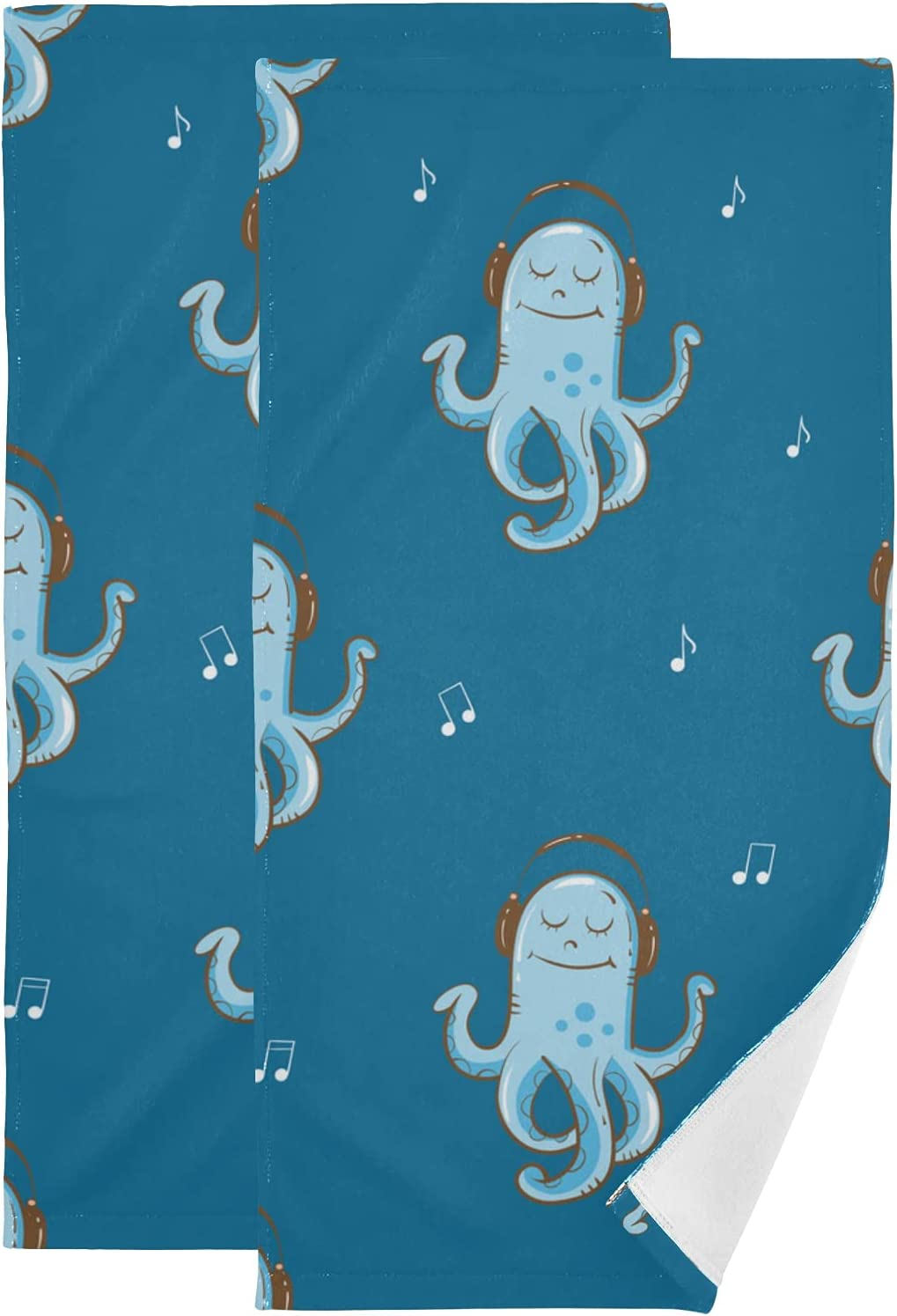 online shop Set of 2 Towels 2021 autumn and winter new for Bathroom Animal T Happy Fun Musical