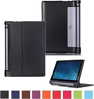Kepuch Custer Case for Lenovo Yoga Tab 3 10.1 X50L X50F,Ultra-Thin PU-Leather Hard Shell Cover for Lenovo Yoga Tab 3 10.1 X50L X50F - Black