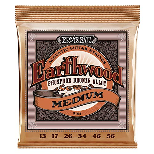 Ernie Ball Earthwood Medium Phosphor Bronze Acoustic String Set, .013 -...