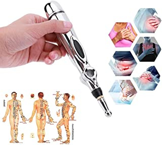Pluma electrónica de acupuntura, máquina de acupuntura de meridianos eléctricos Instrumento de terapia magnética Meridian Energy Pen Masajeador Alivio Herramientas para el dolor